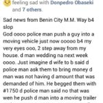 Police push bus drive and he was crushed to death by a moving vehicle in MM way Benin city