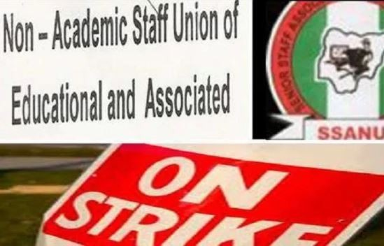 BREAKING: Non-academic unions of Universities SSANU, NASU, NAAT suspend 3-month old strike