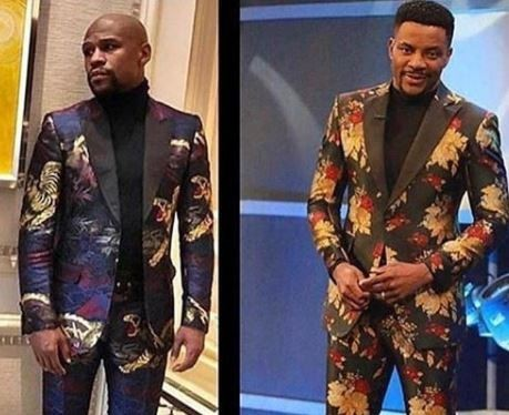 Ebuka VS Floyd Mayweather: Who rocked the floral suit better?