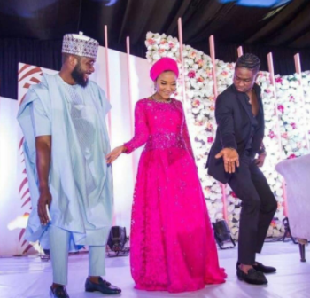 Checkout this beautiful photo of Dangote's daughter, Fatima and her husband bursting a shoki move