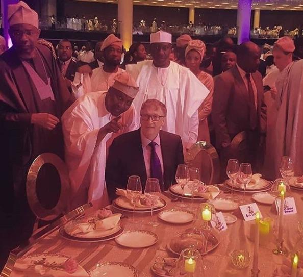 Photo of Bill Gates at the wedding of Africa's richest man, Aliko Dangote's daughter, Fatima