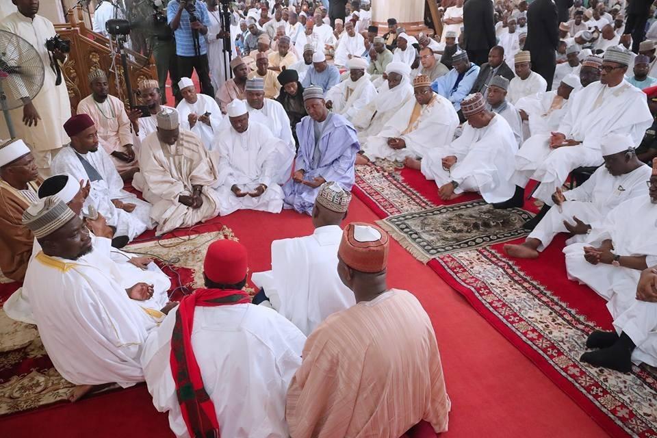 Photos: President Buhari, Osinbajo attend wedding fatiha of Aisha Buhari's younger brother