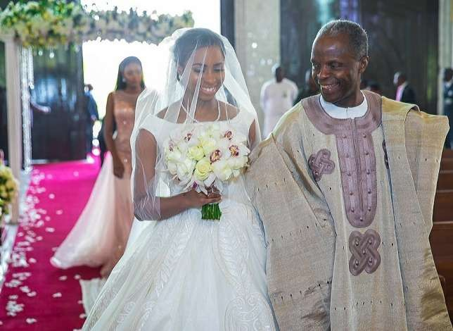 Osinbajo VP's daughter Oludamilola marries Seun Bakare, son of billionaire Bola Shagaya (PHOTOS)