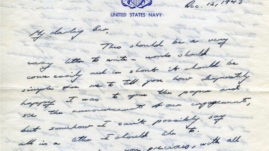 Love letter from George HW Bush to Barbara from WW2 goes viral