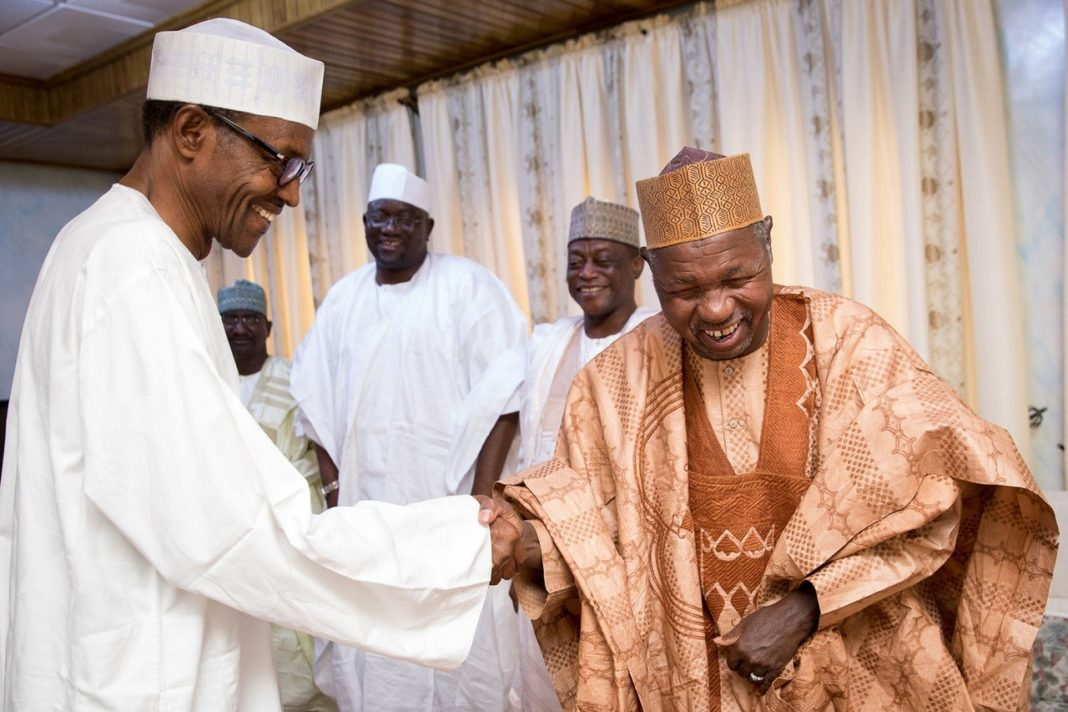 Governor Masari says, ''Only someone from the moon can defeat PMB in 2019''