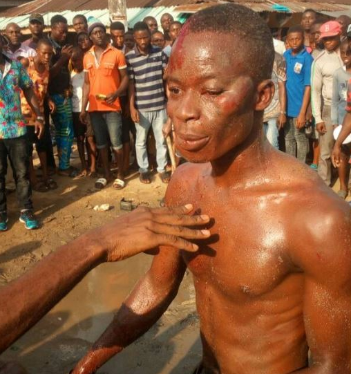 Photos - Armed robbers stripped and beaten mercilessly in Rivers