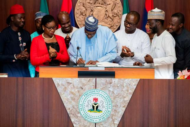 the president of Nigeria has sign the Not Too Young To Run, Democratic victory for Nigerian youths - PDP