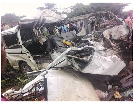 Photos: 18 passengers crushed to death in Ekiti road crash