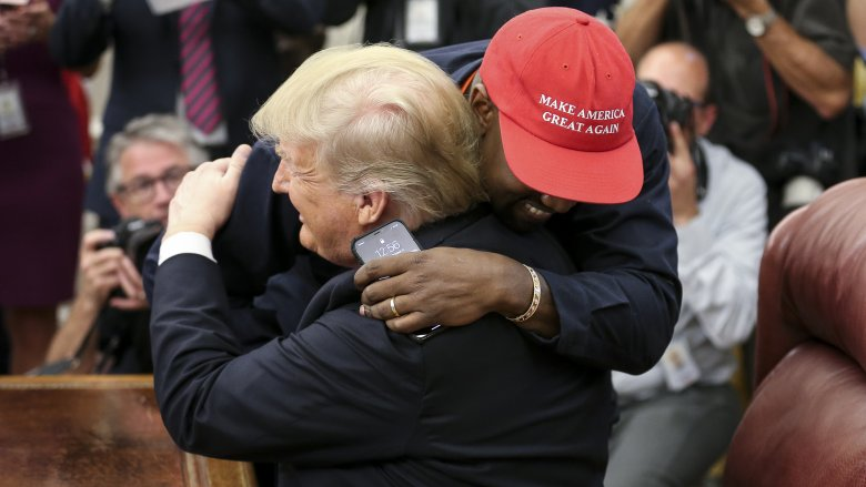 Celebs react to Kanye's meeting with Trump