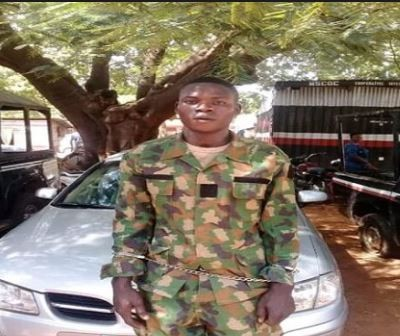 Fake soldier with Nigerian Army uniforms and Police beret arrested in Kaduna State
