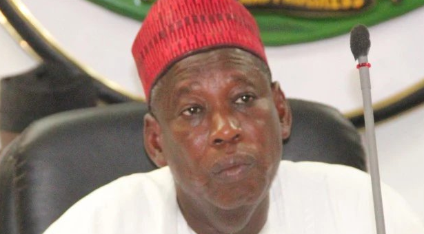 Another video of @GovUmarGanduje of Kano State receiving money in dollars
