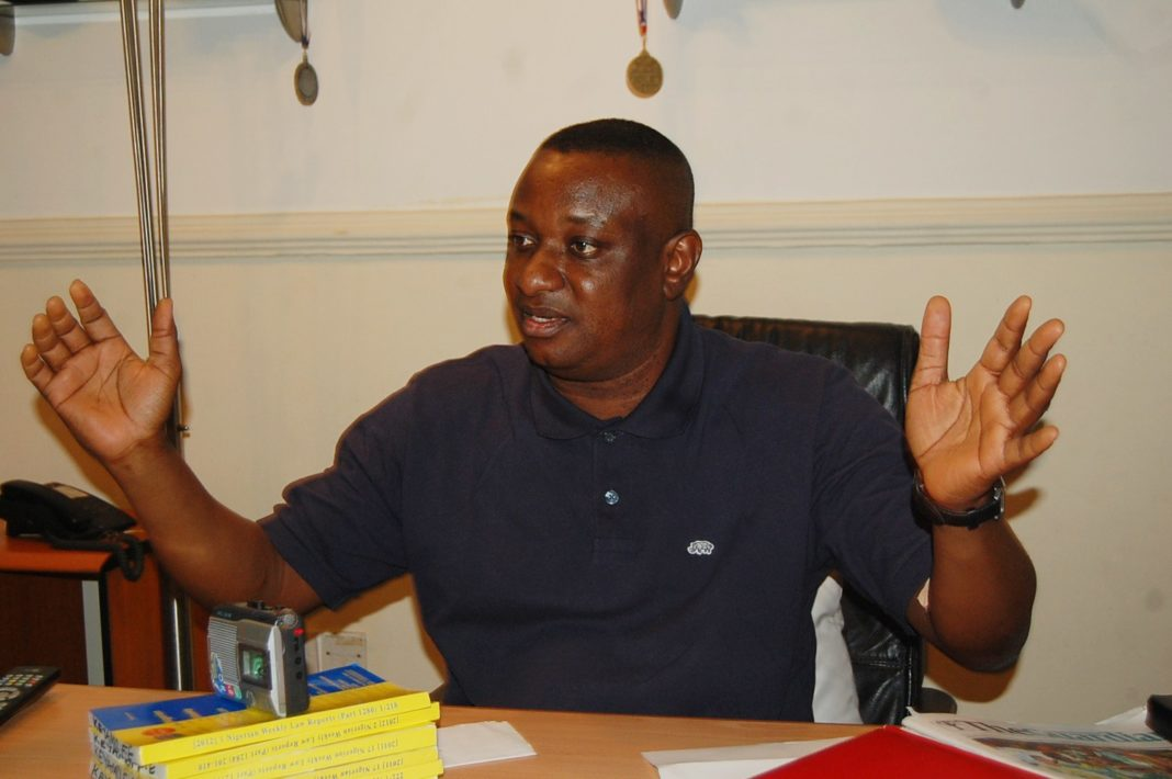 Keyamo mocks Saraki, Dogara, others as police shoot PDP leaders during protest at INEC office