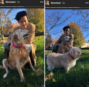 Lili Reinhart Brings Cole Sprouse Home With Her for Thanksgiving: Pics
