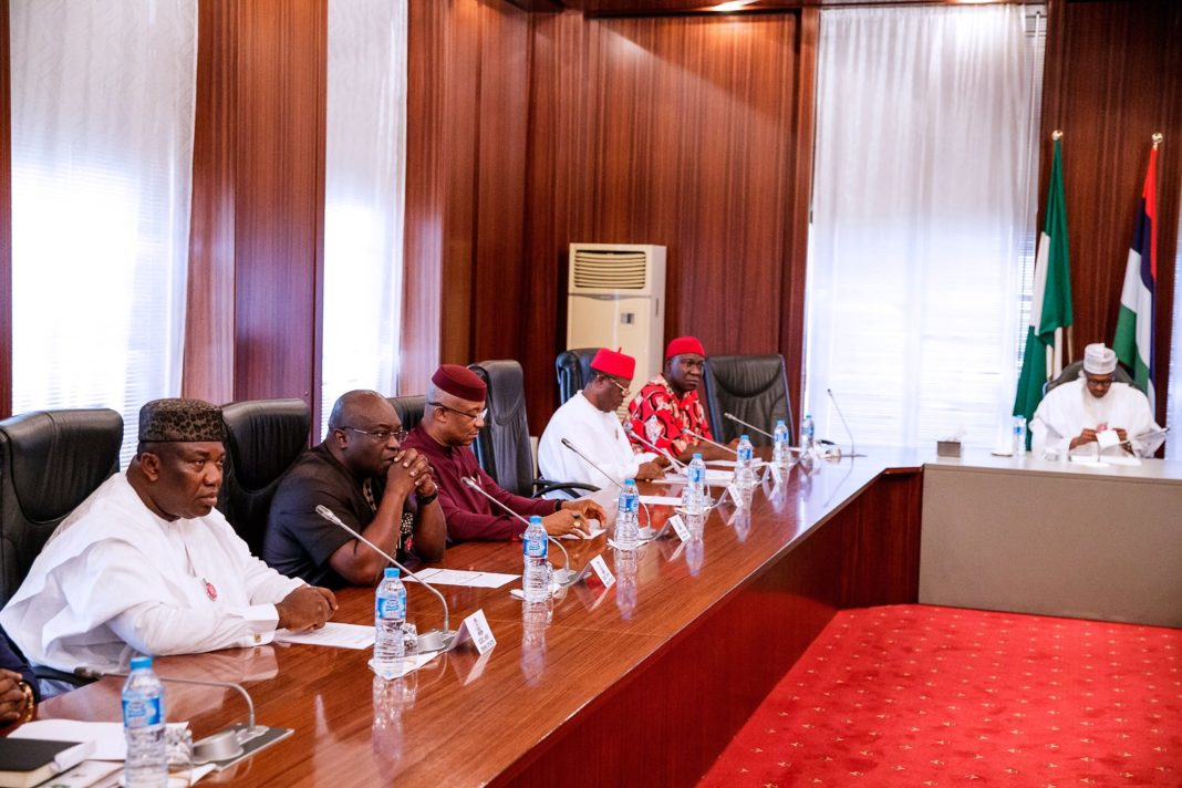What Southeast governors said after meeting with Buhari