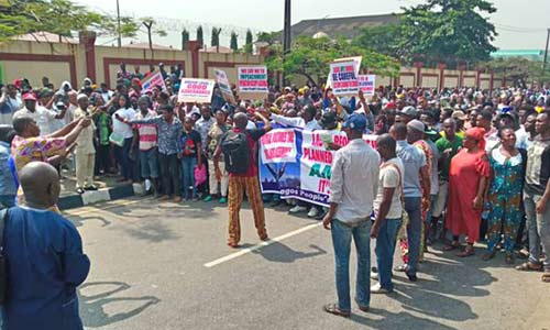 Ambode's impeachment: Protests rock House of Assembly