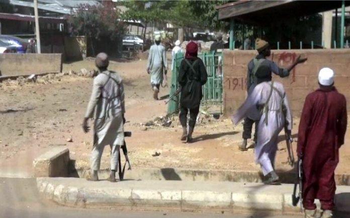 BREAKING: Residents flee as Boko Haram militants storm Auno village in Borno