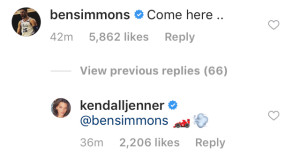 Turning Up the Heat! Ben Simmons, Kendall Jenner Continue to Flirt Online