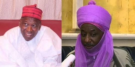 Sanusi vs Ganduje: Kano indigenes reject new emirs, ask Sultan to denounce emirates
