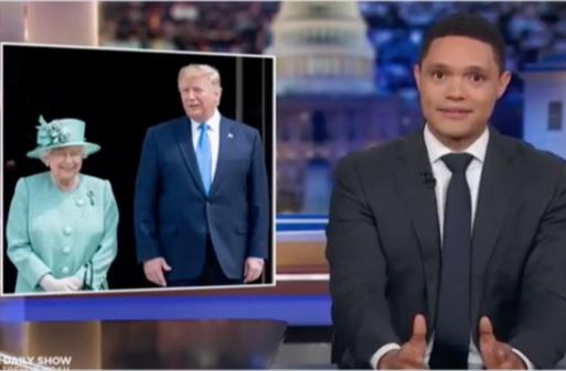 Trevor Noah rips into Donald Trump's 'awkward' visit to the UK (Video)