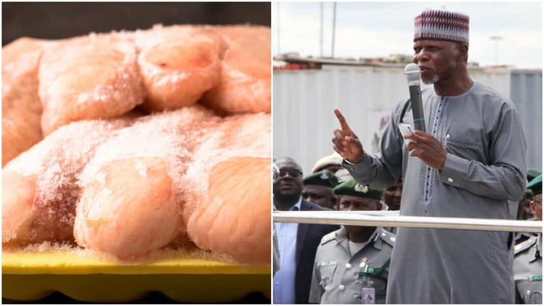 Boarder closure: Imported frozen chicken contains chemicals used in preserving dead bodies – Customs boss, Ali