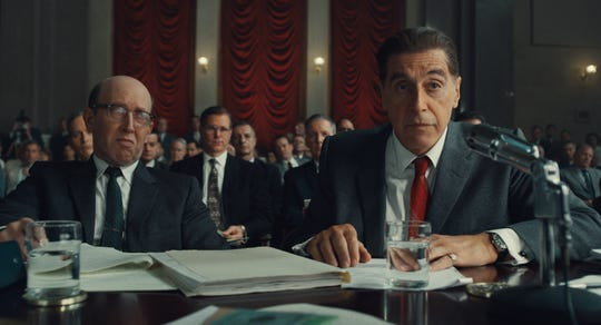 "Al Pacino could be back in awards contention for his scene-stealing performance as real-life labor leader Jimmy Hoffa in ""Irishman."""