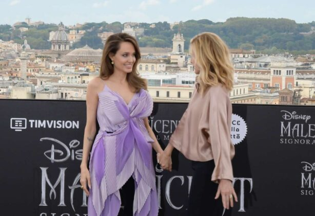 Angelina Jolie – 'Maleficent: Mistress of Evil' Photocall in Rome