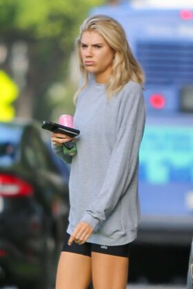 Charlotte McKinney – Leaves a health food store in Los Angeles