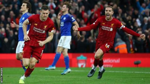 Football News : Liverpool 2-1 Leicester City: James Milner's late penalty extends Reds' perfect start