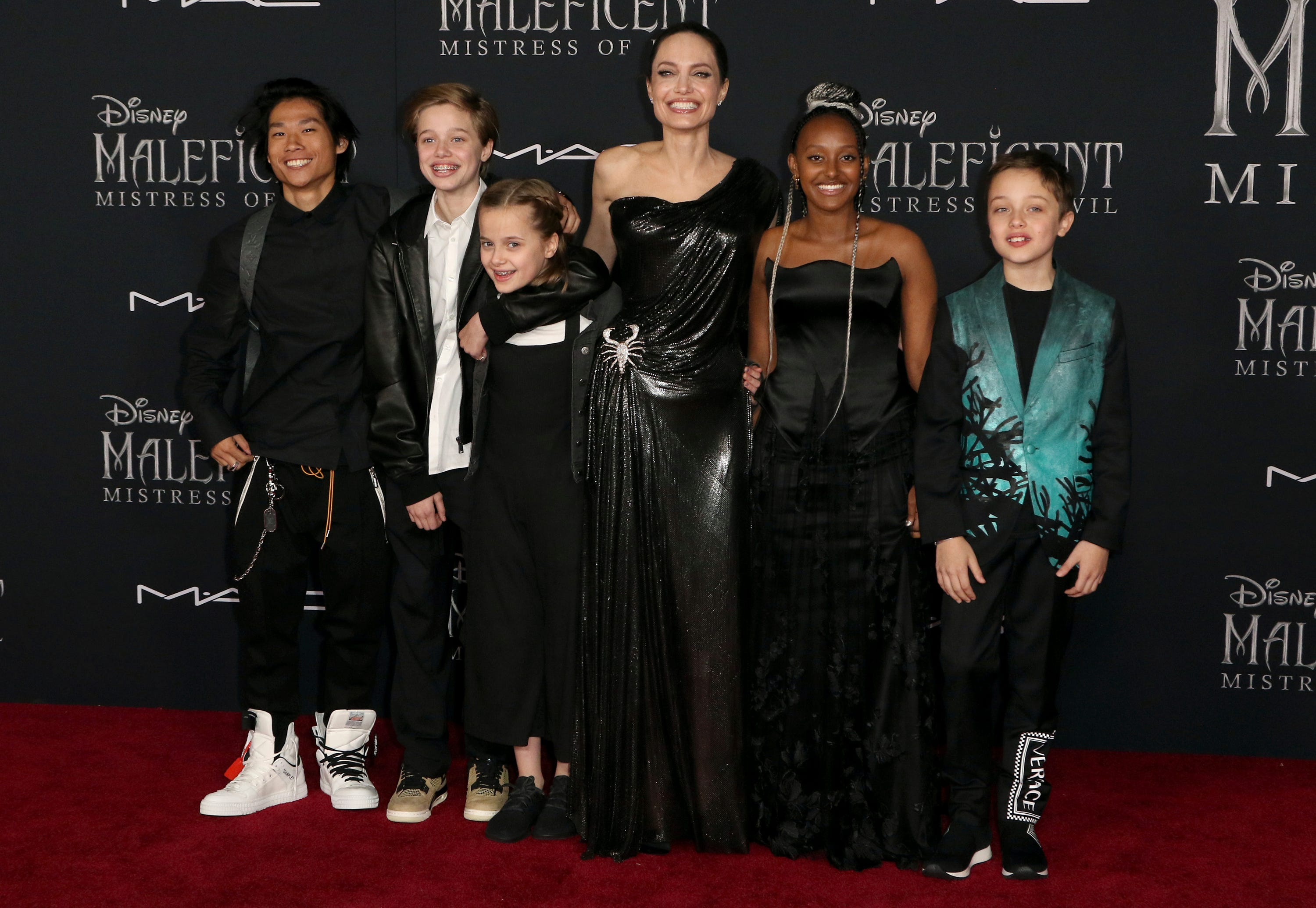 'Maleficent: Girlfriend of Evil': Angelina Jolie, Elle Fanning bring magic to the red carpet