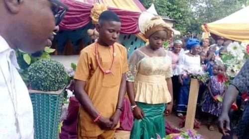 17-year-old Boy Marries 16-year-old Girl In Anambra State (Photo From The Event)