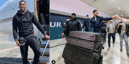 Anthony Joshua Arrives Saudi Arabia Ahead Of Rematch With Andy Ruiz Jr.