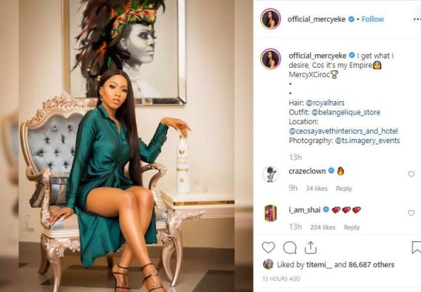 "#BBNaija: ""I Get Whatever I Desire"" – Mercy Brags After Securing Endorsement Deal With Ciroc"