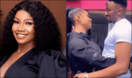 BBNaija Star, Tacha Arrives Port Harcourt For Her Homecoming, Links Up With Her Bestie, Sir Dee (Video)
