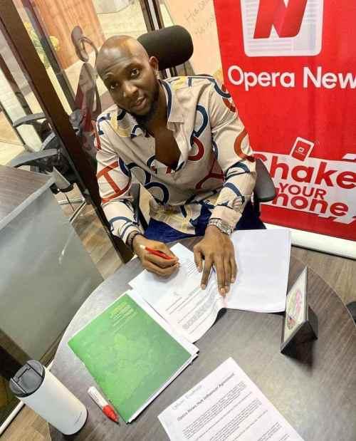 #BBNaija: Tuoyo Becomes Brand Ambassador Of Opera News