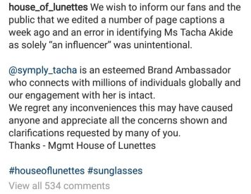 Company That Signed Tacha Speaks On Announcing Her As A Mere 'Influencer'
