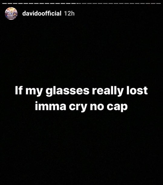 Davido's Diamond Encrusted Eyeglass Worth N4.5million Goes Missing