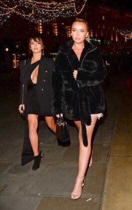 Demi Rose Mawby was pictured while arriving at Cafe Royal in London