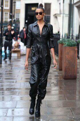 Ella Balinska – Arrives at KISS FM UK Radio Studios in London