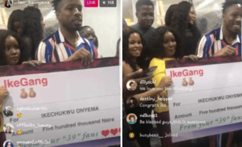 Fans Of Ex-BBNaija Housemate, Ike Contribute N500k For Him (Watch Video)