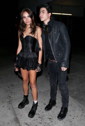 Hana Cross and Nasser Alfallah – Leaves a Halloween Party in Warwick