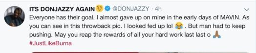 """I Almost Gave Up On My Goals In The Early Days Of Mavin"" – Donjazzy Says As He Shares Throwback Photo"