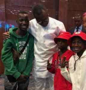 Ikorodu Bois Meet Billionaire Femi Otedola At DJ Cuppy's Birthday Party