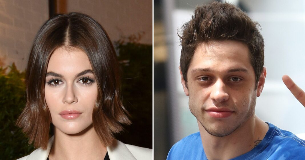 Kaia Gerber Buys Pete Davidson a Confetti Cake for His 26th Birthday