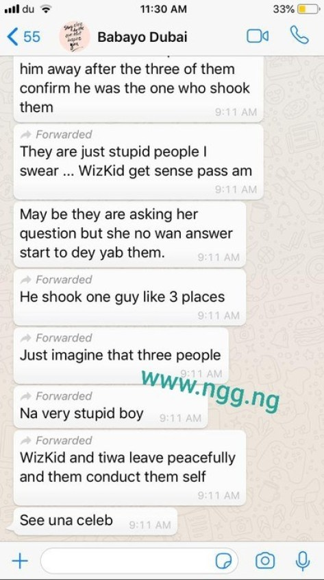 Leaked Chat: Davido Reportedly Stabs Man With Bottle In Dubai Club