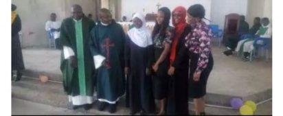 Legendary Actor, Kanayo O. Kanayo, Two Ex-Muslim Sisters Baptised In A Catholic Church