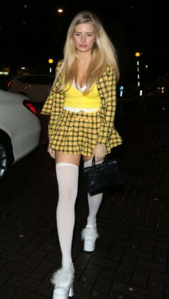 Lottie Moss – Exits a Halloween Party at LayLow Club in London