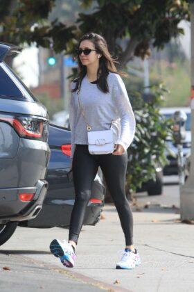 Nina Dobrev in Black Leggings – Out in West Hollywood