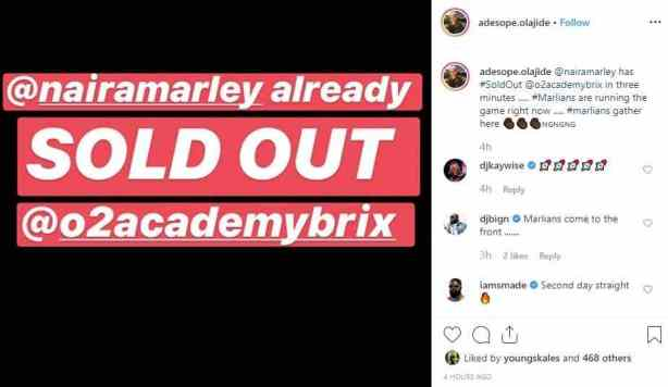 Singer, Naira Marley Sells Out 02 Academy Arena For Marlian Fest In 3 Minutes