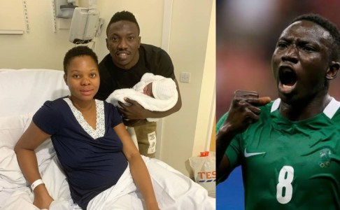 Super Eagles Player, Etebo Welcomes A Baby With His Wife (Photo)