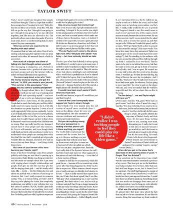 Taylor Swift – Rolling Stone Magazine (India – November 2019)